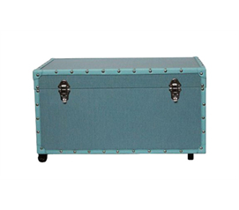 Resists Damage And Looks Great! - The Original Anti-Scratch Dorm Trunk with Wheels - Wheels Make Heavy Loads Easier