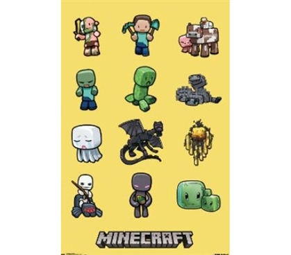 Wall Posters For Cheap - Minecraft Characters Poster - Cool College Items