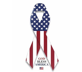 God Bless America U.S. Flag - Ribbon Poster