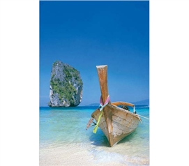 Enhance Your College Decor - Boat On The Beach Poster - Cool Beach Poster