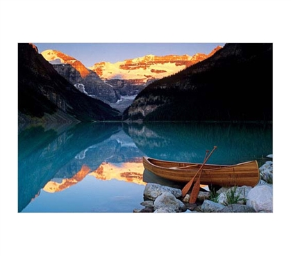 Great Dorm Wall Decor - Canoe Lake Louise Poster - Peaceful Poster For College