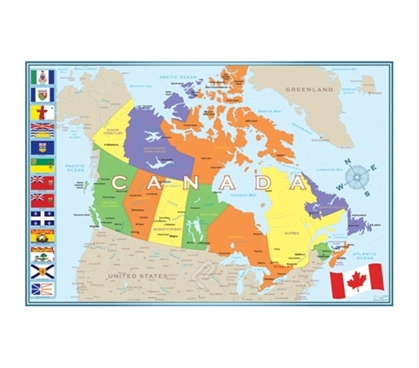 Essential Modern Map of Canada Poster