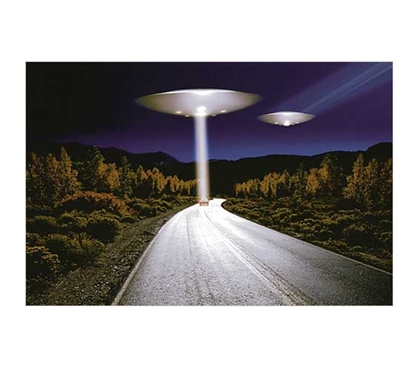 Unique Poster For College - UFO Invasion Poster - Cool Dorm Wall Decor