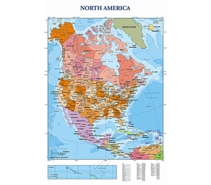 Useful Map of North America Poster
