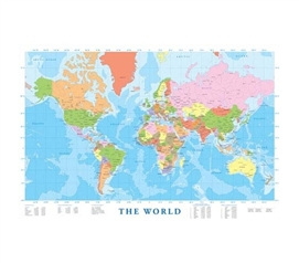 Planning World Travel in a Useful Modern Map of the World Poster