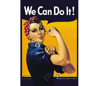 Rosie the Riveter: We Can Do It! Poster Rosie the Riveter old poster dorm room decorating ideas
