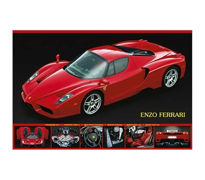 Great-Looking Dorm Poster - Ferrari Enzo Poster - Cool College Poster