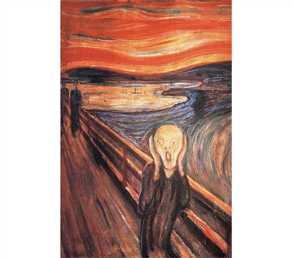 Famous Masterpiece - The Scream Artwork for College