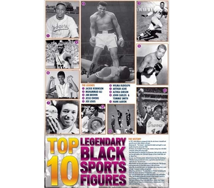Great For Sports Lovers - Legendary Black Sports Figures Poster - Historic College Decoration