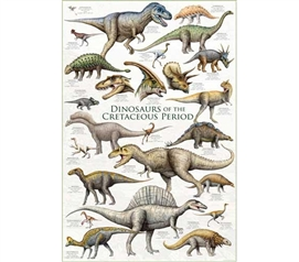 Absolutely Fun! Prehistoric Dinosaurs Collage Wall Art - Cool Poster for College Students Decorating their Dorm Rooom