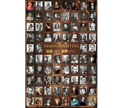 Many Famous Writers Poster - inspiration for College English Writing