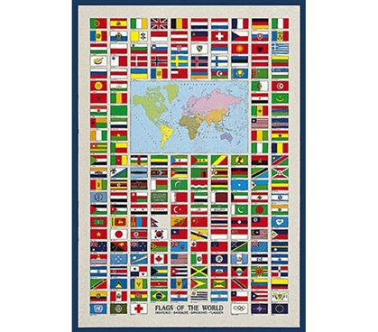 Travel the World - Flags of the World - College Poster