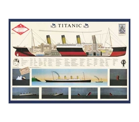 History Poster For College - Titanic Anatomy Poster - Coo. Poster For Dorms