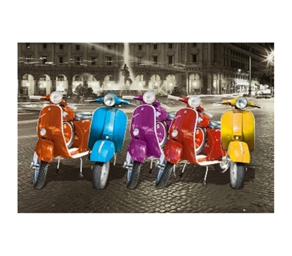 Plenty Of Color For Dorm Decor - Vespas Rome Poster - Great Poster For College