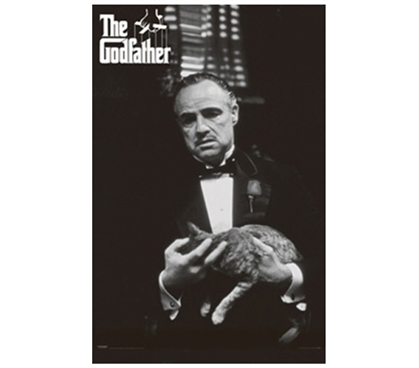 Unique and Powerful Decor - The Godfather & Cat Poster