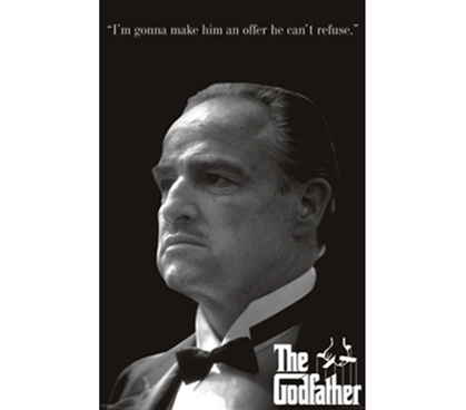 Powerful & Intimidating Portrait yet Respectful - The Godfather Profile Poster for Dorms
