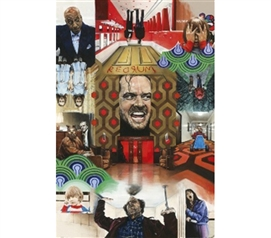 Iconic Dorm Artwork - The Shining Collage Poster