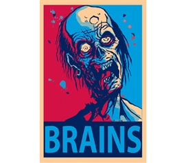 "Famous ""Hope"" Poster Reinvented - Zombie Brains Wall Poster"