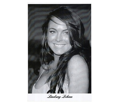 Portrait of Actress - Lindsay Lohan Movie (Smile, B&W) Poster