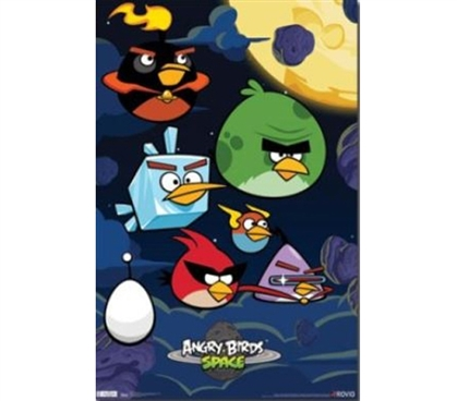 Perfect For Fans Of The Game - Angry Birds Space Poster - Add Fun Decor