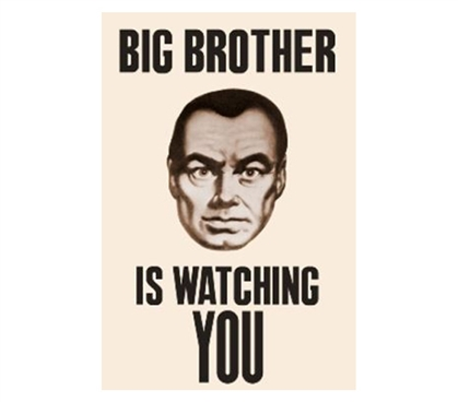 Big Brother Is Watching You Poster Dorm Room Decorations