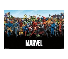 Marvel - The Lineup Poster - Great For Superhero Fans