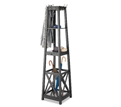 Dorm Room Entryway Tower - Espresso Dorm Organizer