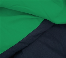 Kelly Green/Black Reversible College Comforter - Twin XL Comforter for College Dorm Bedding Twin XL