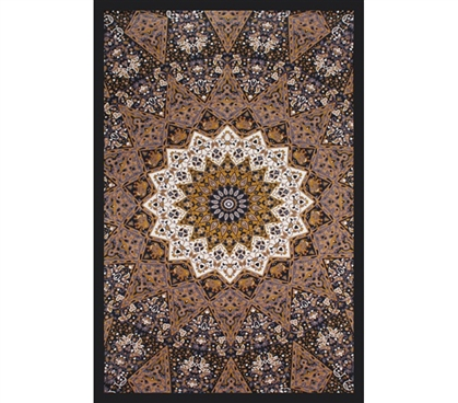 Dorm Decor Essentials start with college tapestries like our Classic Indian Tapestry Dark Star