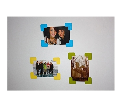 Stickr Corners - Includes 7 Sets Gives your wall pics some fun college decor
