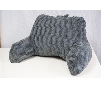 Dorm Room Decorations Soft Dorm Seating Wavy Plush Bedrest - Gray