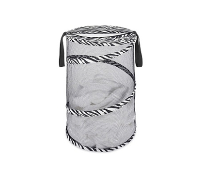 Cheap And Useful - Zebra Collapsible Laundry Hamper - Fun Basic Dorm Item