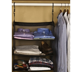 Portable Dorm Closet Shelves  (2 in 1 College Product)