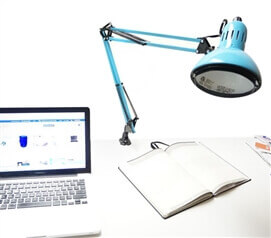 Adjusting College Clip Lamp - Aqua Dorm Essentials
