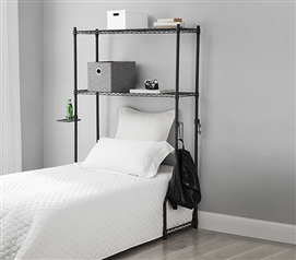 College Shelving One-of-a-Kind Dorm Room Twin XL Over the Bed Shelf Supreme Gunmetal Gray