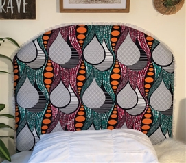 Unique Dorm Room Twin XL Bedding Decor Madagascar Rainforest College Headboard with Fringe