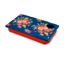 Looks Great - Floral Bouquet LapDesk - Useful Dorm Item For Studying In College