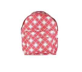 Quatrefoil Pink College Backpack Dorm Essentials College Supplies