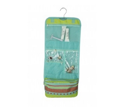 Greek Key Turquoise - Cosmetic Bag Dorm Essentials Must Have Dorm Items