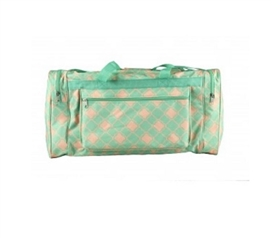 Fashion Duffel Bag - Quatrefoil Turquoise Dorm Essentials