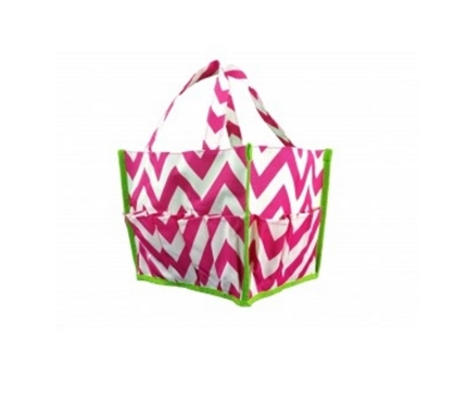 Chevron Pink and Green Dorm Organizer Dorm Storage Solutions Must Have Dorm Items