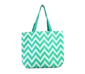 Chevron Aqua College Girl Tote - Backpack - Laptop Bag
