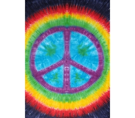 Rainbow Peace Sign Tapestry Dorm bed stuff
