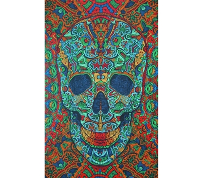 Make Blank Walls Colorful - 3D Skull Tapestry - Cool Design