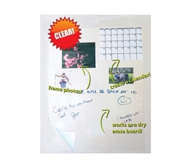 Wizard Wall - Clear Re-positionable Dry Erase - Useful For College