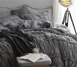 Torrent - Handcrafted Series Twin XL Duvet Cover - Gray