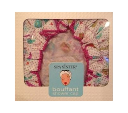 Bouffant Shower Cap - World Traveler Design - Shower Essentials - Dorm Supplies