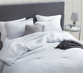 Stylish Glacier Gray Twin Extra Long Bedding Super Cozy Bare Bottom Twin XL Duvet Cover