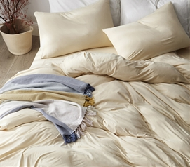 Cream Colored Extra Long Twin Sheets Ultimate Comfort Bare Bottom One of a Kind College Bedding
