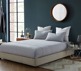 Bare Bottom Sheets - All Season - Twin XL Bedding - Tundra Gray